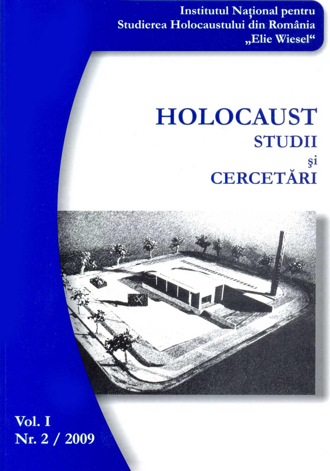 Revista INSHR Holocaust. Studii şi cercetări, vol. I, nr. 2/2009